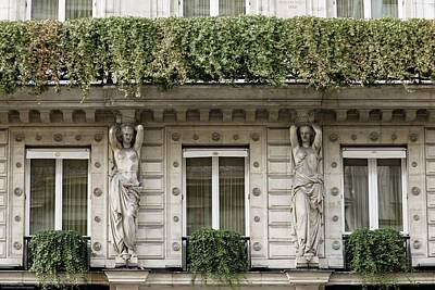 Photograph - Parisian Building Facades - 7 by Hany J