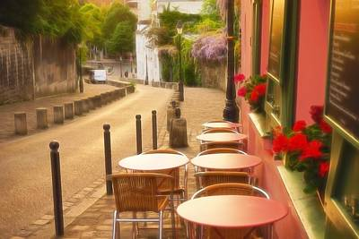 Photograph - Parisian Cafe' Sunset by Denise Darby