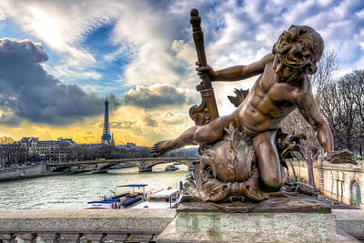 Eiffel Tower Photograph - Parisian Cherub On The Pont Alexandre IIi by Mark E Tisdale
