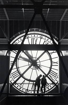 Parisian Clock Art Print by Andrea Simon