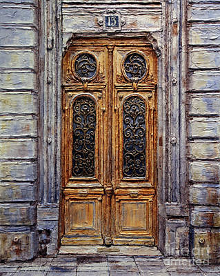 Art Print featuring the painting Parisian Door No. 15 by Joey Agbayani
