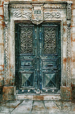 Painting - Parisian Door No. 24 by Joey Agbayani
