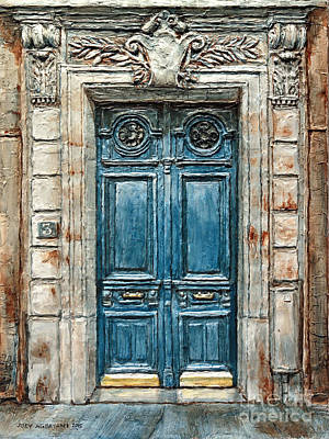 Parisian Door No. 3 Art Print