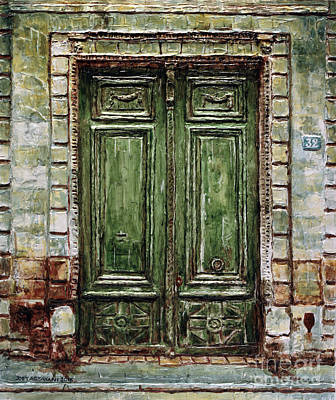 Painting - Parisian Door No. 32 by Joey Agbayani