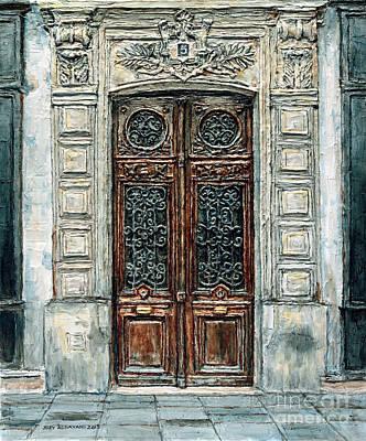 Painting - Parisian Door No. 5-3 by Joey Agbayani