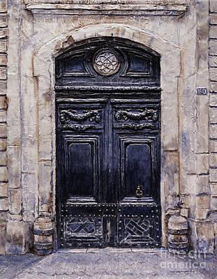 Painting - Parisian Door No. 59 by Joey Agbayani