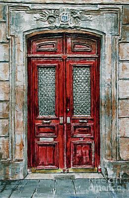 Painting - Parisian Door No.14 by Joey Agbayani