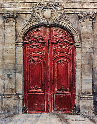 Painting - Parisian Door No.49 by Joey Agbayani