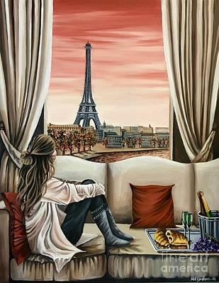 Painting - Parisian Dreams by Art By Three Sarah Rebekah Rachel White