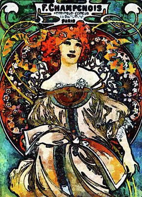 Mixed Media - Parisian Lady Van Gogh Style Expressionism by Georgiana Romanovna