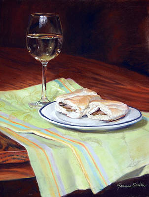 Sandwich Painting - Parisian Lunch by Jeanne Rosier Smith