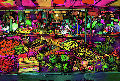 Painting - Parisian Market by DC Langer
