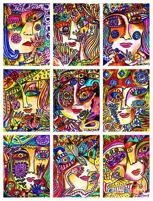 Goddess Jewellery Painting - -parisian Gem Ladies by Sandra Silberzweig