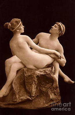 Couple Making Love Photograph - Parisian Nudes, 1923 by French School