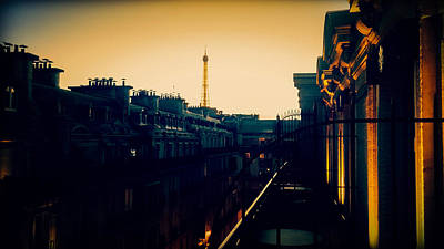 Paris Skyline Royalty-Free and Rights-Managed Images - Parisian Skyline by Christina Zizzo