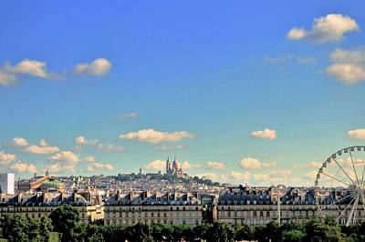 Paris Skyline Royalty-Free and Rights-Managed Images - Parisian Skyline by Marla McPherson