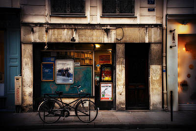 Laneway Photograph - Parisian Storefront by Cabral Stock