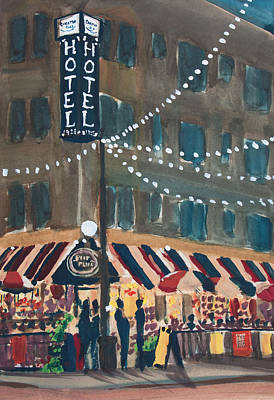 Painting - Parisian Summer Night at Poor Phil's and the Carleton by Ted Gordon
