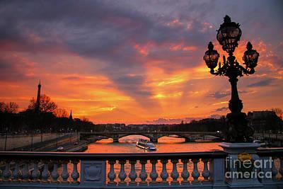 Photograph - Parisian Sunset by Howard Ferrier