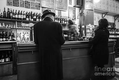 Photograph - Parisian Wine Bar. by Perry Van Munster
