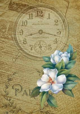 Photograph - Parisienne Time by Shabby Chic and Vintage Art