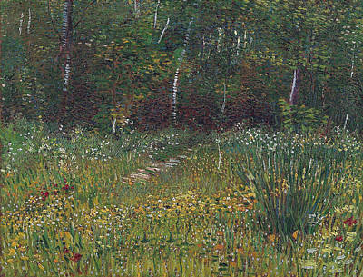 Cosmos Flowers Painting - Park At Asnieres In Spring, 1887 by Vincent Van Gogh