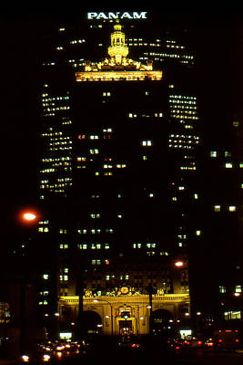 Panam Photograph - Park Avenue At Night - New York Photo Art by Art America Online Gallery