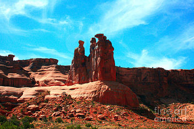 Colorful Cloud Formations Painting - Park Avenue Fantastic Rock Formations by Corey Ford