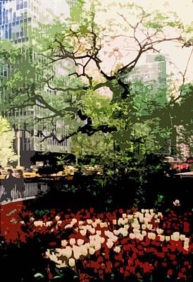 Streetscape Digital Art - Park Avenue Spring by Franck Hodelin