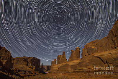 Photograph - Park Avenue Star Trails by Spencer Baugh