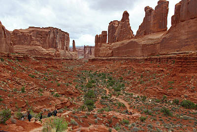Photograph - Park Avenue Trail In Arches National Park Utah by Elizabeth Rose