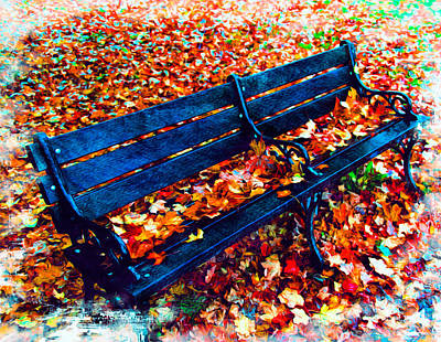 Photograph - Park Bench by Bill Howard