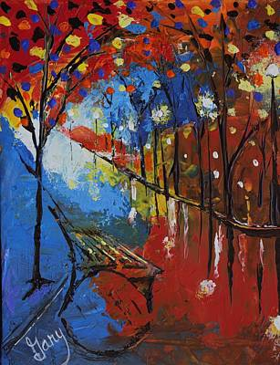 Painting - Park Bench by Gary Smith