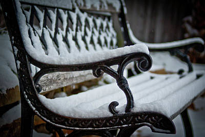 Photograph - Park Bench by Jill Smith