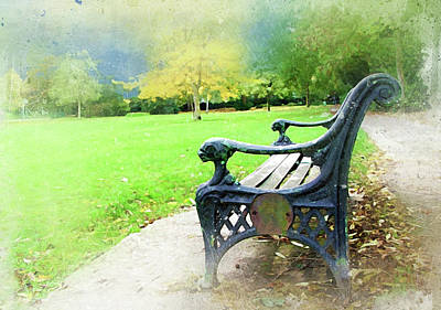 Photograph - Park Bench by Judi Saunders