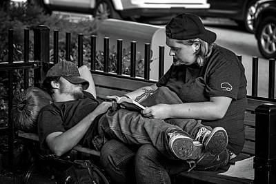Photograph - Park Bench Nap by John Haldane