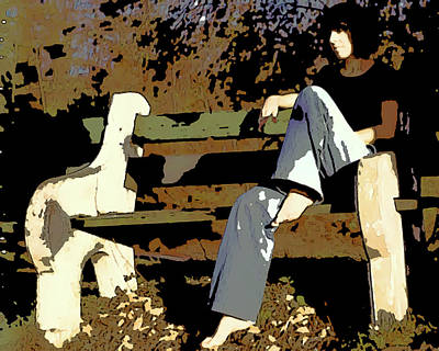 Photograph - Park Bench by Peggy Cooper