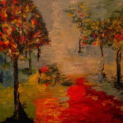 Autumn Landscape Mixed Media - Park by Carmen Kolcsar