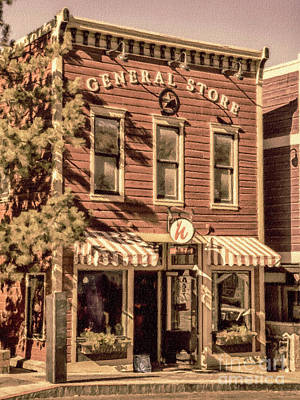 Mixed Media - Park City General Store by David Millenheft