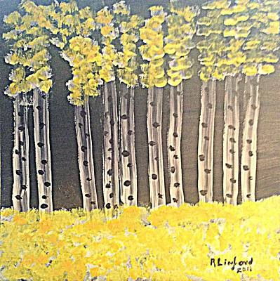 Painting - Park City Utah Quakies And Bear by Richard W Linford