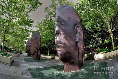 Photograph - Park Faces By Jaume Plensa by David Bearden