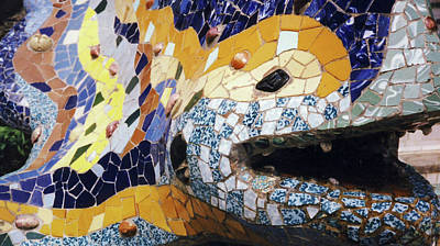 Photograph - Park Guell, Barcelona No. 2-1 by Sandy Taylor