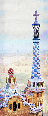 Photograph - Park Guell Candy House Tower - Gaudi by Weston Westmoreland