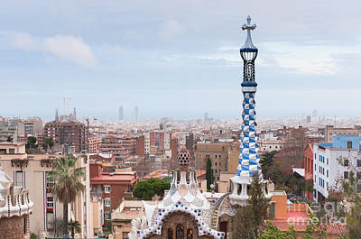 Photograph - Park Guell In Barcelona Spain by Iryna Soltyska