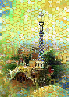 Photograph - Park Guell Mosaics by Carla Parris