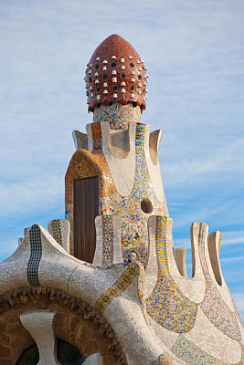 Organic Shapes Photograph - Park Guell Tower by Matthew Bamberg