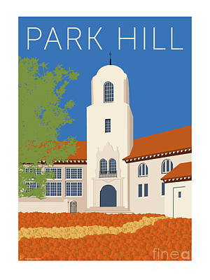 Digital Art - Park Hill Blue by Sam Brennan