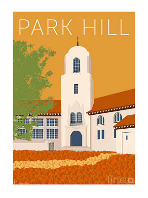Digital Art - Park Hill Gold by Sam Brennan