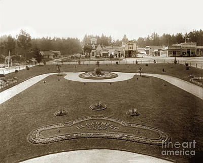 Photograph - Park In Front Of El Carmelo Hotel Between Grand And Fountain And Lighthouse Avenue. 1887 by California Views Mr Pat Hathaway Archives