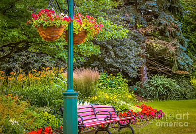 Gas Lamp Photograph - Park In Niagara Falls by Claudia M Photography